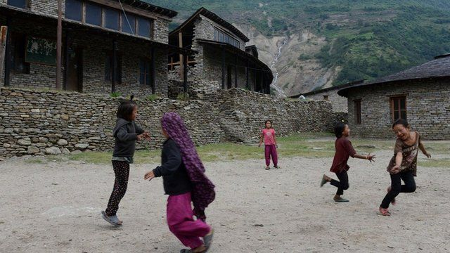 Children playing in Nepal