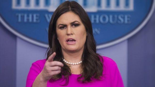Secretaria de prensa de la Casa Blanca Sarah Huckabee Sanders.