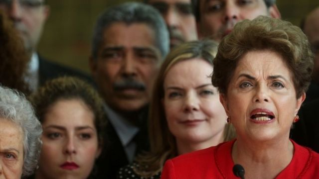 Dilma Rousseff (right)