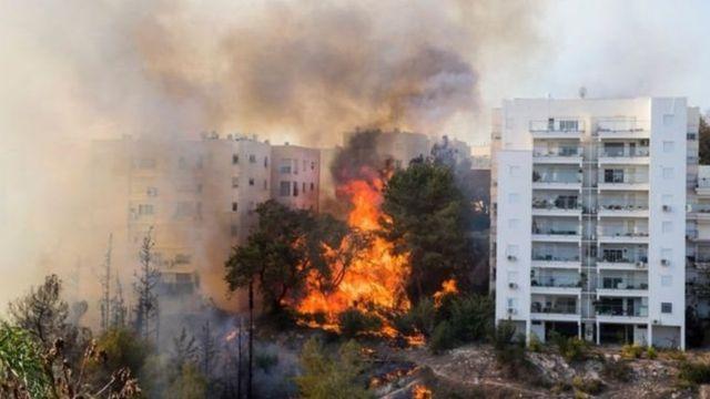 حرائق في إسرائيل