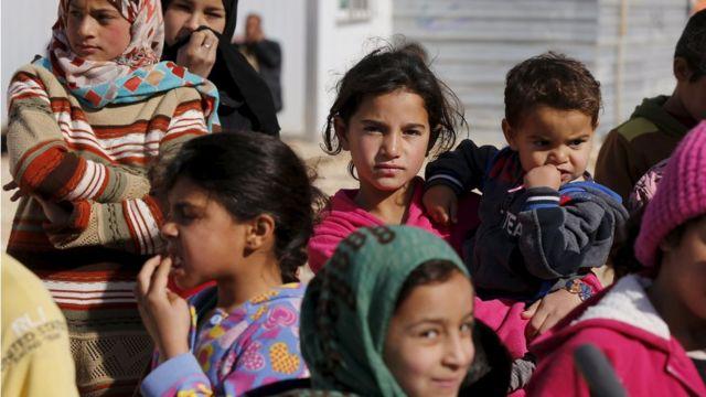 シリア難民の子どもたち(今月1日)