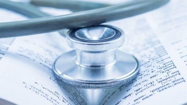 Stethoscope for inside book