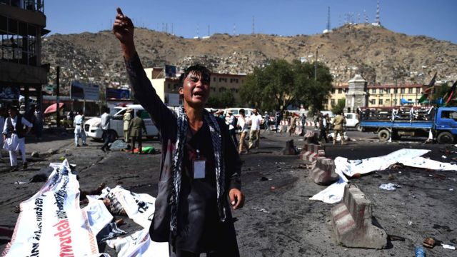 Igitero c'ibisasu i Kabul muri Afhanistan