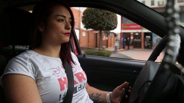 Conductora de Uber