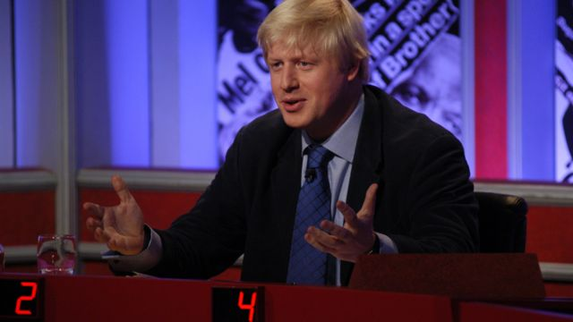 Boris Johnson appears on Have I Got News For You in 2004