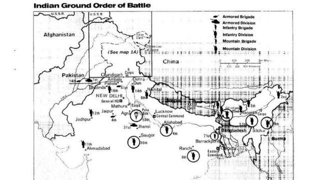 সিআইএর সামরিক মানচিত্র: যেভাবে বাংলাদেশে অভিযান চালাতে পারে ভারত