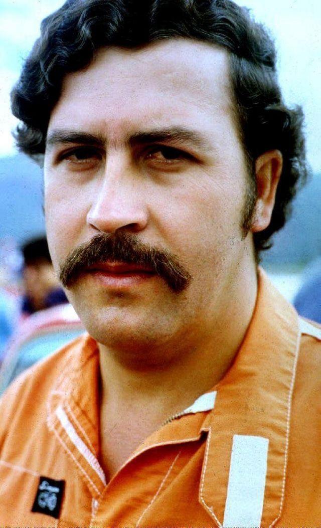 Colombian drug lord Pablo Escobar