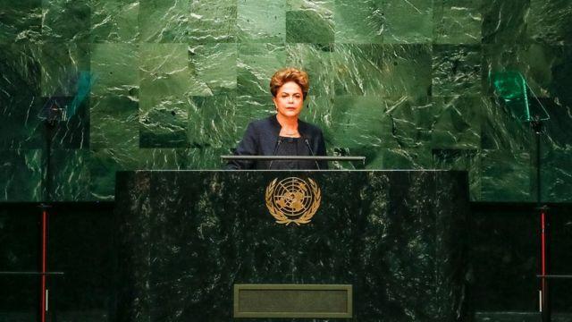 Dilma foi a primeira mulher a fazer o discurso de abertura da Assembleia Geral da ONU