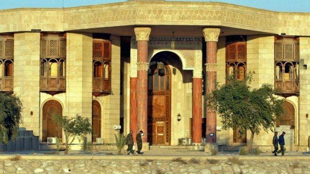 El palacio en Basora que fuera de Saddam Hussein