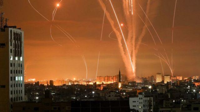 Ataque en Gaza.
