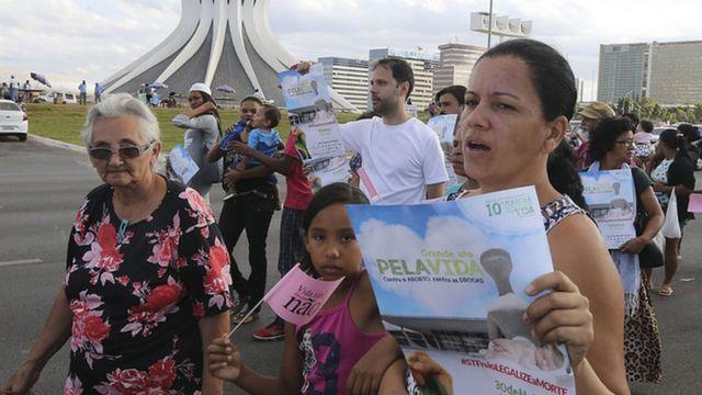 Manifestação contra aborto em Brasília