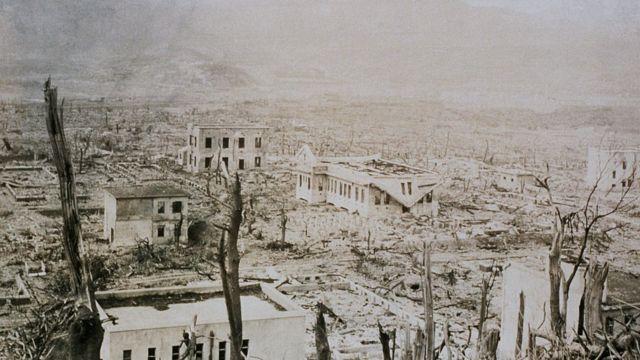 Destrucción en Nagasaki.