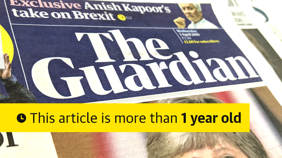Guardian to flag old news on social media