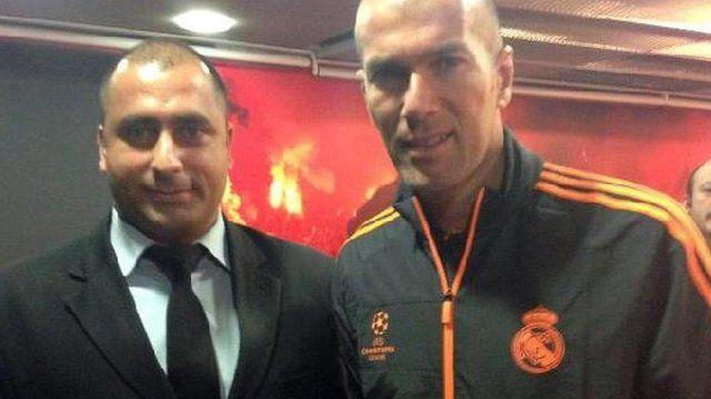 Fatih Cakmak and Zinedine Zidane