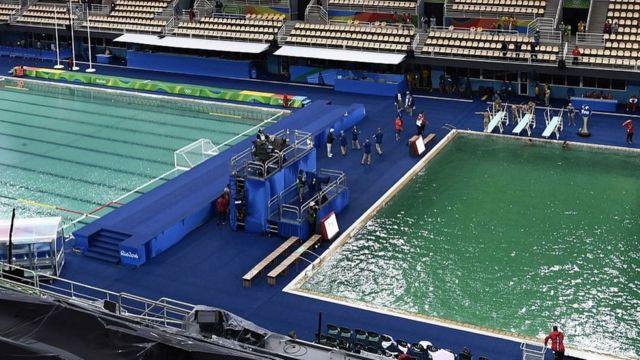 Organização admitiu erro na rotina de manutenção das piscinas do Maria Lenk