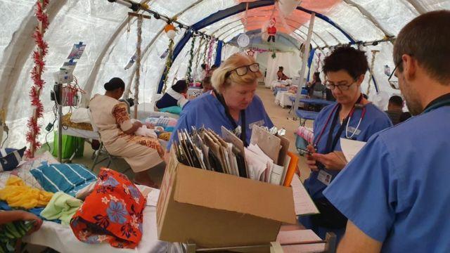 Profissionais de saúde em Samoa