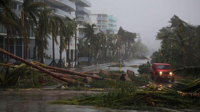 Irma a su llegada a Florida