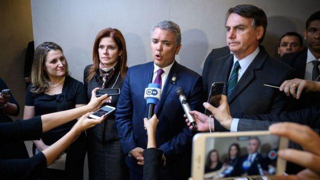 Los gobiernos de Colombia y Brasil también reconocieron a Guaidó.