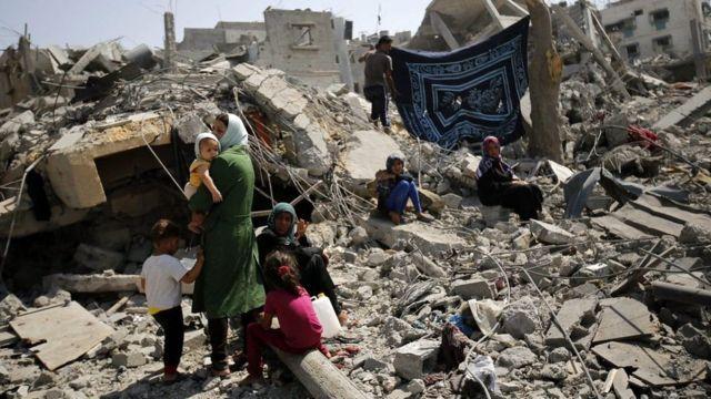 درگیری بین اسرائیل و شبه نظامیان در غزه در سال ۲۰۱۴ باعث خرابی فراوان این منطقه شد