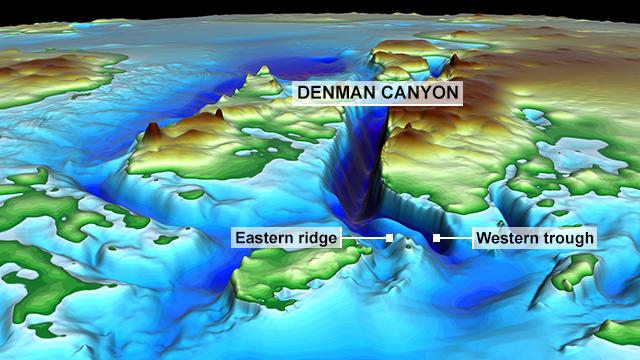 Denman Canyon (vertical exaggeration x 5)