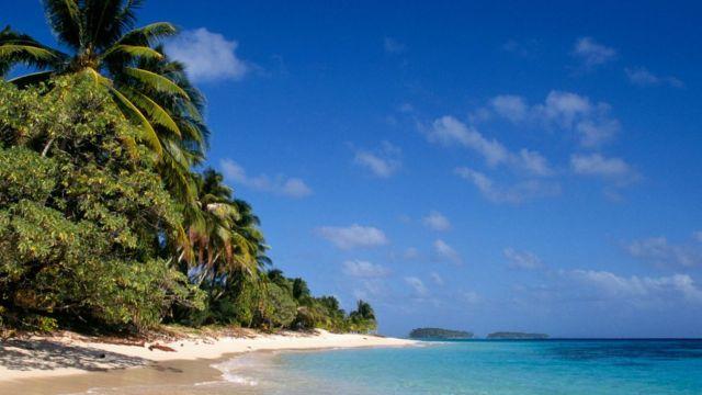 Playa de las Islas Marshall