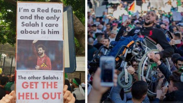 لافتات وصور اجتاحت مواقع التواصل الاجتماعي في الجزائر