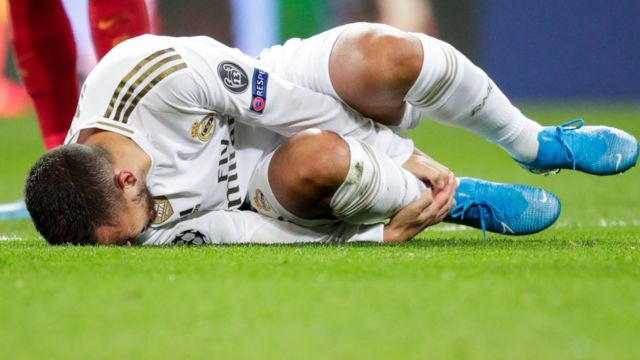 Another injury for Real Madrid's Eden Hazard