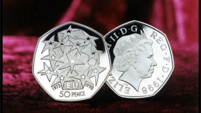 영국이 EU 의장국이었던 1998년에도 50p 기념 주화를 발행했다