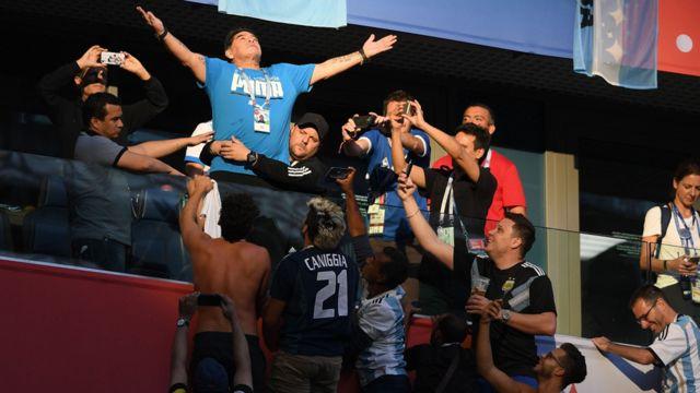 Maradona en el Mundial de Rusia 2018