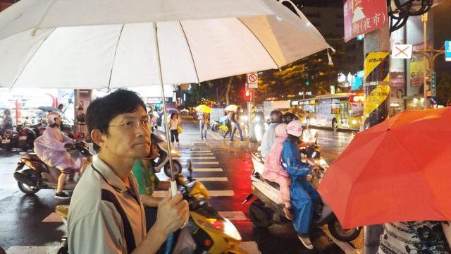 7日の台北にも強い雨が降った