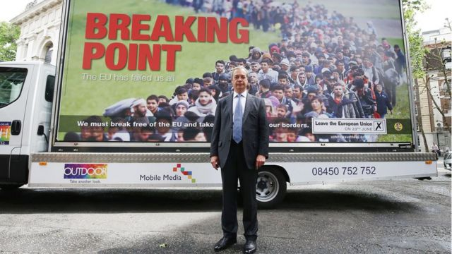 Um dos principais defensores da saída da UE é o líder do partido nacionalista Ukip, Nigel Farage
