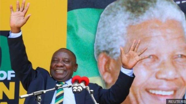 Onyeisi ANC bụ Cyril Ramaphosa