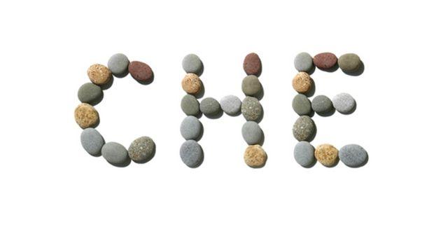 Che escrito con piedras.