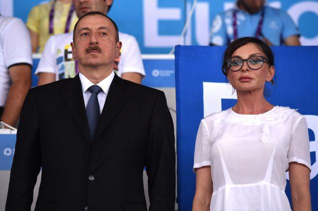 الهام علیاف و همسرش مهربان