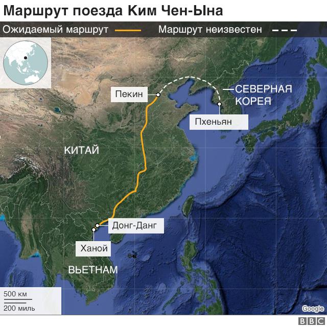 карта маршрута кима