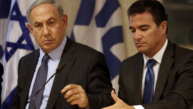 یوسی کوهن، رئیس موساد در کنار بنیامین نتانیاهو
