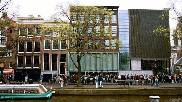 Casa museu de Anne Frank, em Amsterdã.