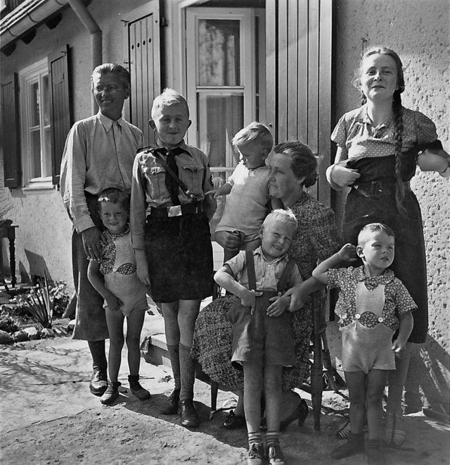 Foto de la familia Niemann en 1940