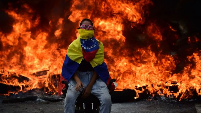 معترض ونزوئلایی