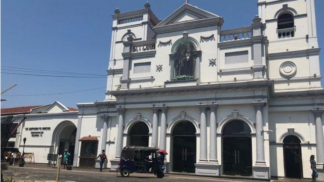 كنيسة القديس أنتوني التي تعرضت لتفجير في سريلانكا