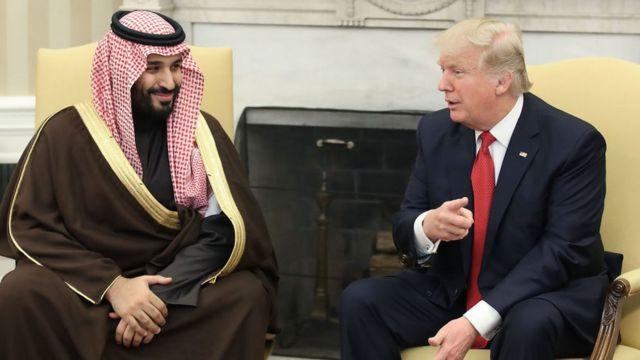 El príncipe heredero y Donald Trump.