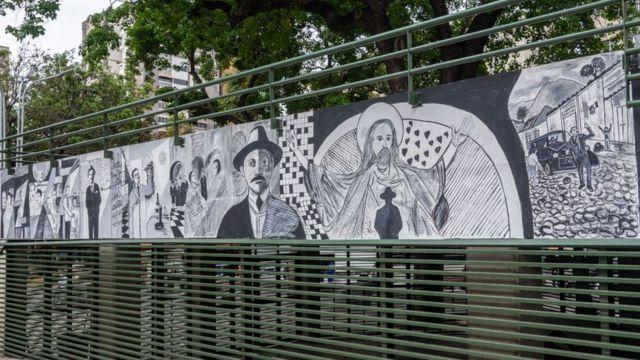 Mural de José Gregorio Hernández.