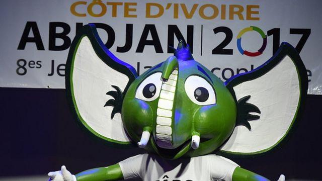 La mascotte des 8e Jeux de la Francophonie à Abidjan
