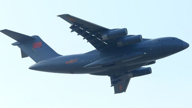 File image of a Xian Y-20 heavy transport aircraft