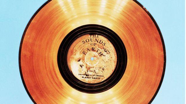 El disco que llevó consigo la sonda Voyager II