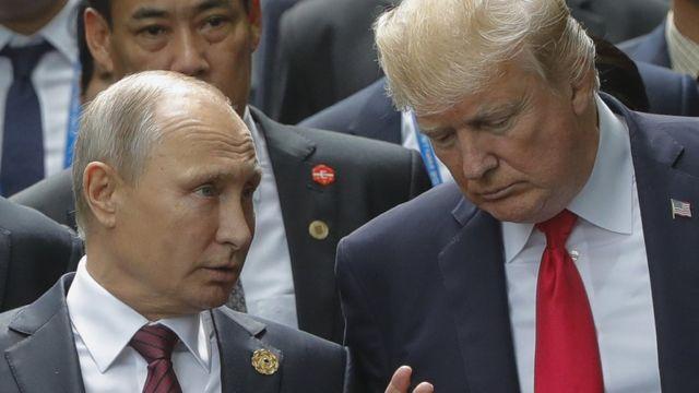 Vladimir Putin y Donald Trump.