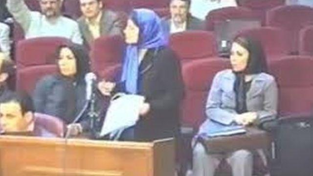 نسرین ستوده در جلسه دادگاه شیرین عبادی