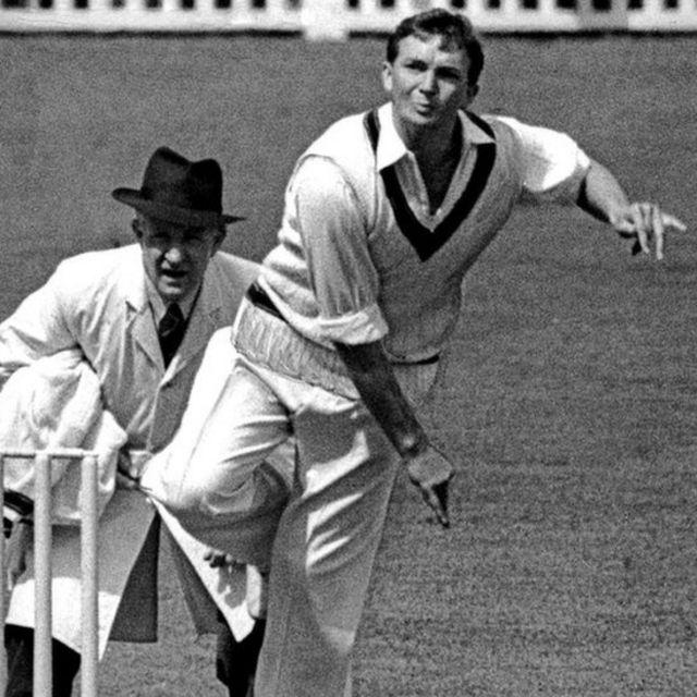 Australian cricketer and team captain Richie Benaud