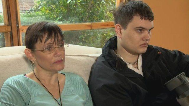 Helen-Louise Doney and her son Scott Vineer