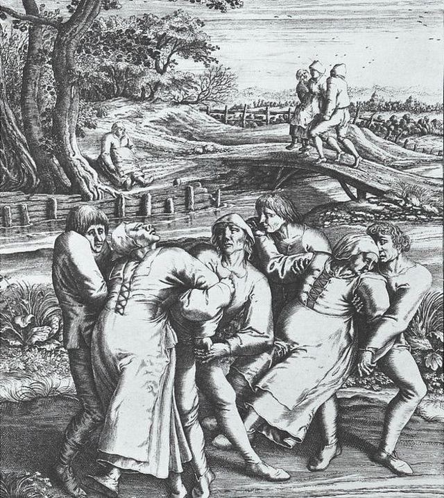 Grabado de Hendrick Hondius (1642) a partir de un dibujo de Pieter Brueghel el Viejo (1564)